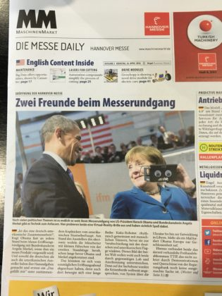Obama and Merkel at Hannover